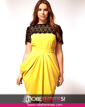 Robe cocktail pas cher femme ronde